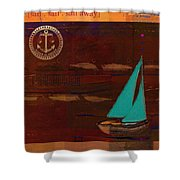 Sail Sail Sail Away - J173131140v3c4b Shower Curtain by Variance Collections