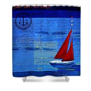 Sail Sail Sail Away - j173131140v5c2 Shower Curtain by Variance Collections