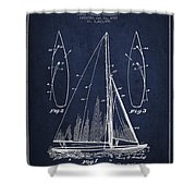 Sailboat Patent Drawing From 1927 Shower Curtain by Aged Pixel