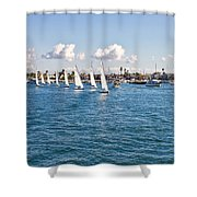 Sailing Shower Curtain by Angela A Stanton