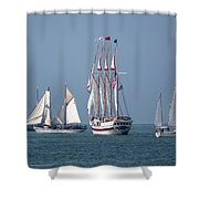 Sailing Lake Erie Shower Curtain by Dale Kincaid