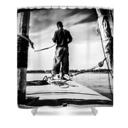 Sailing On The Nile Shower Curtain by Erik Brede
