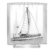 Sailing Sailing Sailing Shower Curtain by Jack Pumphrey