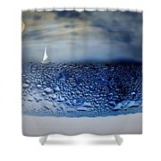 Sailing The Liquid Blue Shower Curtain by Joyce Dickens
