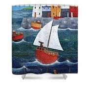 Sailor Dog Shower Curtain by Peter Adderley