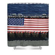 Sailors And Marines Display Shower Curtain by Stocktrek Images