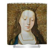 Saint Catherine Shower Curtain by Goossen van der Weyden