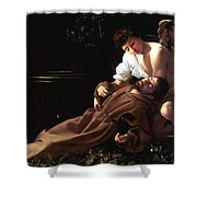Saint Francis of Assisi in Ecstasy Shower Curtain by Caravaggio