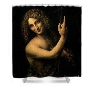 Saint John The Baptist Shower Curtain by Leonardo da Vinci