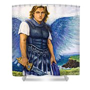 Saint Michael the Archangel Shower Curtain by Patty Kay Hall