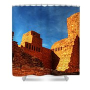 Salinas Pueblo Abo Mission Golden Light Shower Curtain by Bob Christopher