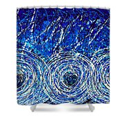 Salt Of The Soul - Drip Painting Art By Commission Shower Curtain by Sharon Cummings