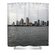 San Diego Skyline 5d24336 Shower Curtain by Wingsdomain Art and Photography