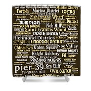 San Francisco 20130710bwwa85 Shower Curtain by Wingsdomain Art and Photography