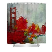 San Francisco City Collage Shower Curtain by Corporate Art Task Force