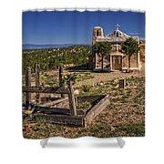 San Francisco De Asis Church Shower Curtain by Priscilla Burgers