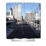 San Francisco Moscone Center And Skyline - 5d20513 Shower Curtain by Wingsdomain Art and Photography