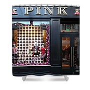 San Francisco Pink Storefront - 5d20565 Shower Curtain by Wingsdomain Art and Photography