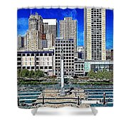 San Francisco Union Square 5D17938 Artwork Shower Curtain by Wingsdomain Art and Photography