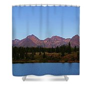 San Juan Mountain Range Shower Curtain by Dan Sproul