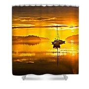 San Juan Sunrise Shower Curtain by Robert Bales