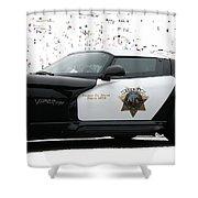 San Luis Obispo County Sheriff Viper Patrol Car Shower Curtain by Tap On Photo