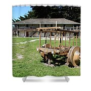 Sanchez Adobe Pacifica California 5d22653 Shower Curtain by Wingsdomain Art and Photography