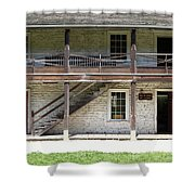 Sanchez Adobe Pacifica California 5D22655 Shower Curtain by Wingsdomain Art and Photography