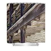Sanchez Adobe Pacifica California 5D22658 Shower Curtain by Wingsdomain Art and Photography