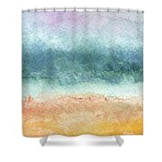 Sand And Sea Shower Curtain by Linda Woods