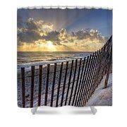 Sand Dunes   Shower Curtain by Debra and Dave Vanderlaan