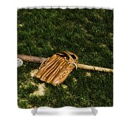 Sand Lot Baseball Shower Curtain by Bill Cannon