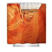 Sandstone Bowl Shower Curtain by Inge Johnsson