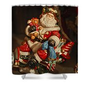 Santa Claus - Antique Ornament -05 Shower Curtain by Jill Reger