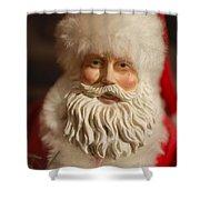 Santa Claus - Antique Ornament - 07 Shower Curtain by Jill Reger