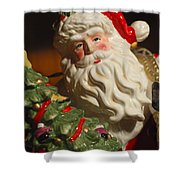 Santa Claus - Antique Ornament - 10 Shower Curtain by Jill Reger