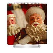 Santa Claus - Antique Ornament - 12 Shower Curtain by Jill Reger