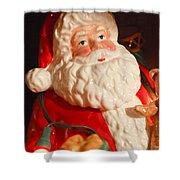 Santa Claus - Antique Ornament - 13 Shower Curtain by Jill Reger