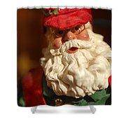Santa Claus - Antique Ornament - 16 Shower Curtain by Jill Reger