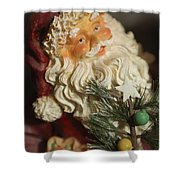 Santa Claus - Antique Ornament - 18 Shower Curtain by Jill Reger