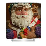 Santa Claus - Antique Ornament - 20 Shower Curtain by Jill Reger