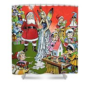 Santa Claus Toy Factory Shower Curtain by Jesus Blasco