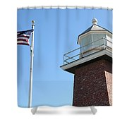 Santa Cruz Lighthouse Surfing Museum California 5d23951 Shower Curtain by Wingsdomain Art and Photography