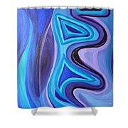 Sapphire Passion - Luminescent Light Shower Curtain by Daina White