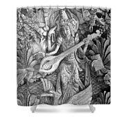 Saraswati - Supreme Goddess Shower Curtain by Karon Melillo DeVega