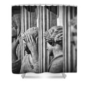 Sarcophagus Of The Crying Women II Shower Curtain by Taylan Apukovska
