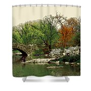 Saturday In Central Park Shower Curtain by Linda  Parker