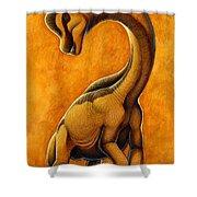 Sauroposeidon, A Genus Of Sauropod Shower Curtain by H. Kyoht Luterman