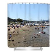 Sausalito Beach Sausalito California 5D22696 Shower Curtain by Wingsdomain Art and Photography