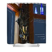 Sax At The Full Moon Cafe Shower Curtain by Greg Reed